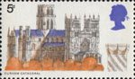 British Cathedrals 5d Stamp (1969) Durham Cathedral