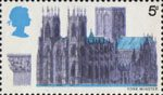 British Cathedrals 5d Stamp (1969) York Minster