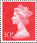 Definitive 10p Stamp (1970) Cerise