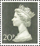 Definitive 20p Stamp (1970) Olive-Green