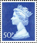 Definitive 50p Stamp (1970) Ultramarine