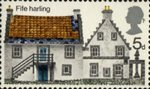 British Rural Architecture 5d Stamp (1970) Fife Harling