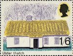 British Rural Architecture 1s6d Stamp (1970) Ulster Thatch