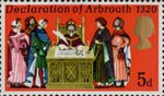 General Anniversaries 5d Stamp (1970) Signing the Declaration of Arbroath