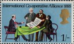 General Anniversaries 1s Stamp (1970) Signing of International Co-operative Alliance