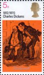 Literary Anniversaries 5d Stamp (1970) 'Mr Pickwick and Sam' (Pickwick Papers)