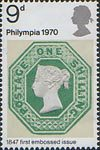 'Philympia 70' Stamp Exhibition 9d Stamp (1970) 1s Green (1847)