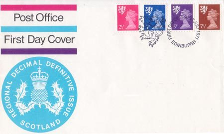 1971 Regional First Day Cover from Collect GB Stamps