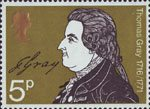 Literary Anniversaries 5p Stamp (1971) Thomas Gray (Death Bicentenary)