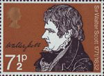 Literary Anniversaries 7.5p Stamp (1971) Sir Walter Scott (Birth Bicentenary)