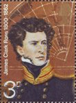 British Polar Explorers 3p Stamp (1972) Sir James Clark Ross