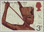 General Anniversaries 3p Stamp (1972) Statuette of Tutankhamun