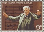 General Anniversaries 9p Stamp (1972) Ralph Vaughan Williams and Score