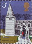 Village Churches 3p Stamp (1972) St Andrew's Greensted-juxta-Ongar, Essex