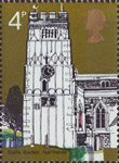 Village Churches 4p Stamp (1972) All Saints, Earls Barton, Nothants