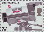 BBC & Broadcasting History 7.5p Stamp (1972) TV Camera, 1972
