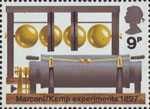 BBC & Broadcasting History 9p Stamp (1972) Oscillator and Spark Transmitter, 1897