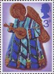 Christmas 3p Stamp (1972) Angel playing Lute