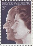 Royal Silver Wedding 3p Stamp (1972) Queen Elizabeth II and Prince Philip