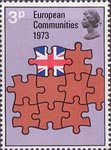 European Communities 3p Stamp (1973) Europe