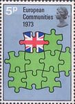 European Communities 5p Stamp (1973) Europe