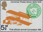 Centenary of Universal Postal Union 5.5p Stamp (1974) Farman H.F. III biplane, 1911