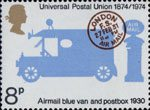 Centenary of Universal Postal Union 8p Stamp (1974) Airmail-blue Van and Postbox, 1930