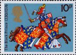 Great Britons 10p Stamp (1974) The Black Prince