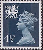 Regional Definitive - Wales 4.5p Stamp (1974) Dark Blue