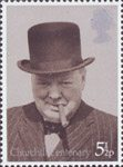 Birth Centenary of Sir Winston Churchill 5.5p Stamp (1974) Prime Minister 1940