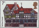 European Architectural Heritage Year 7p Stamp (1975) The Rows, Chester