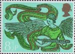 Christmas 8.5p Stamp (1975) Angel with Mandolin