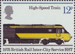 150th Anniversary of Public Railways 12p Stamp (1975) High Speed Train, 1975