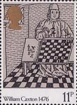 William Caxton 11p Stamp (1976) Game and Playe of Chesse