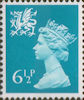 Regional Definitive - Wales 6.5p Stamp (1976) Blue