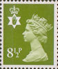 Regional Definitive - Northern Ireland 8.5p Stamp (1976) Yellow-Green