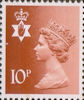 Regional Definitive - Northern Ireland 10p Stamp (1976) Orange-Brown
