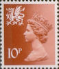 Regional Definitive - Wales 10p Stamp (1976) Orange-Brown