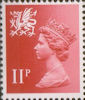 Regional Definitive - Wales 11p Stamp (1976) Scarlet