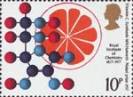British Achievement in Chemistry 10p Stamp (1977) Vitamin C - Synthesis