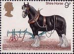 Horses 9p Stamp (1978) Shire Horse