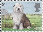 Dogs 9p Stamp (1979) Old English Sheepdog
