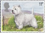 Dogs 11p Stamp (1979) West Highland Terrier