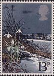 British Flowers 13p Stamp (1979) Snowdrop