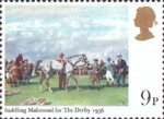 Horseracing 9p Stamp (1979) 'Saddling Mahmoud for the Derby, 1936' (Sir Alfred Munnings)