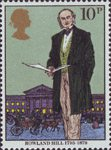 Death Centenary of Sir Rowland Hill (postal reformer) 10p Stamp (1979) Sir Rowland Hill, 1795-1879
