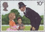 150th Anniversary of Metropolitan Police 10p Stamp (1979) Policeman on the Beat