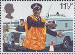 150th Anniversary of Metropolitan Police 11.5p Stamp (1979) Policeman directing Traffic