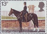 150th Anniversary of Metropolitan Police 13p Stamp (1979) Mounted Policewoman