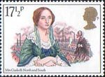 Famous Authoresses 17.5p Stamp (1980) Mrs Gaskell (North and South)